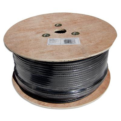 250m Black RG6 Satellite TV Cable