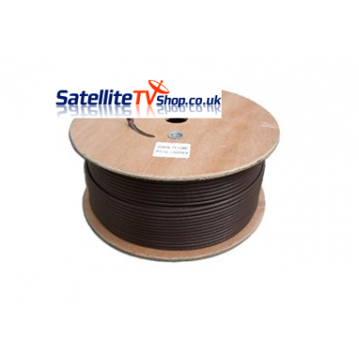 250m Brown RG6 Satellite TV Cable