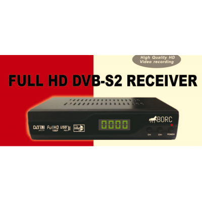 BORC HD DVB-S2 Caravan / Motorhome Satellite Receiver - 12v DC - Latest Version