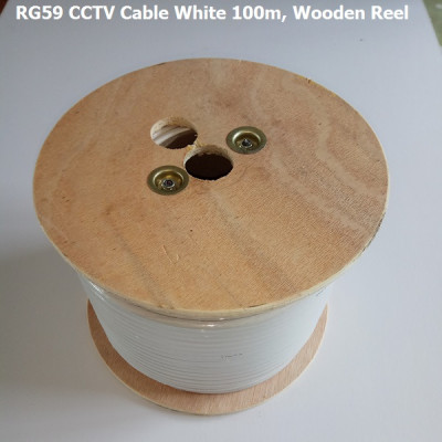 RG59 CCTV Cable 100m - White
