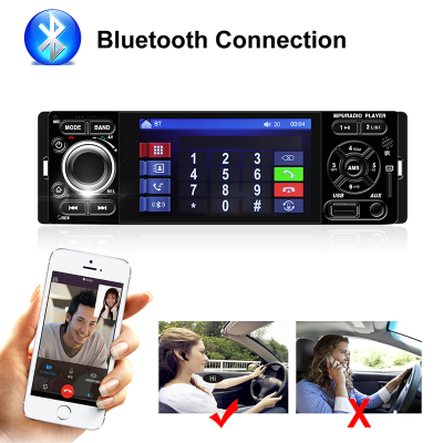Car FM Stereo Bluetooth Radio 1 Din + Rear Camera