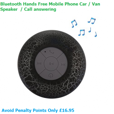 Bluetooth Hands Free Car Speaker - BLACK - Hands-free Call