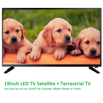 19 inch LED 12V TV Freeview + Satellite Tuners