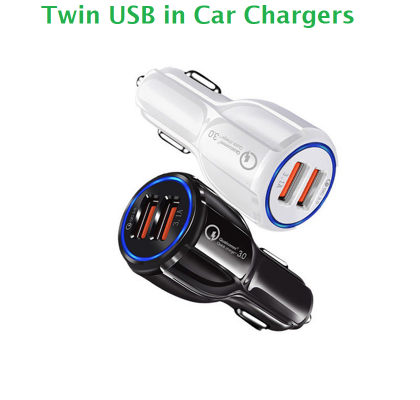 Twin USB in Car Phone Charger