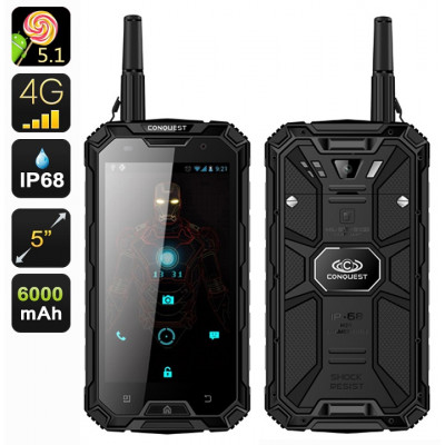 Conquest S8 Pro Military Grade 4G Rugged Smartphone - IP68 Waterproof, Dustproof, Shockproof
