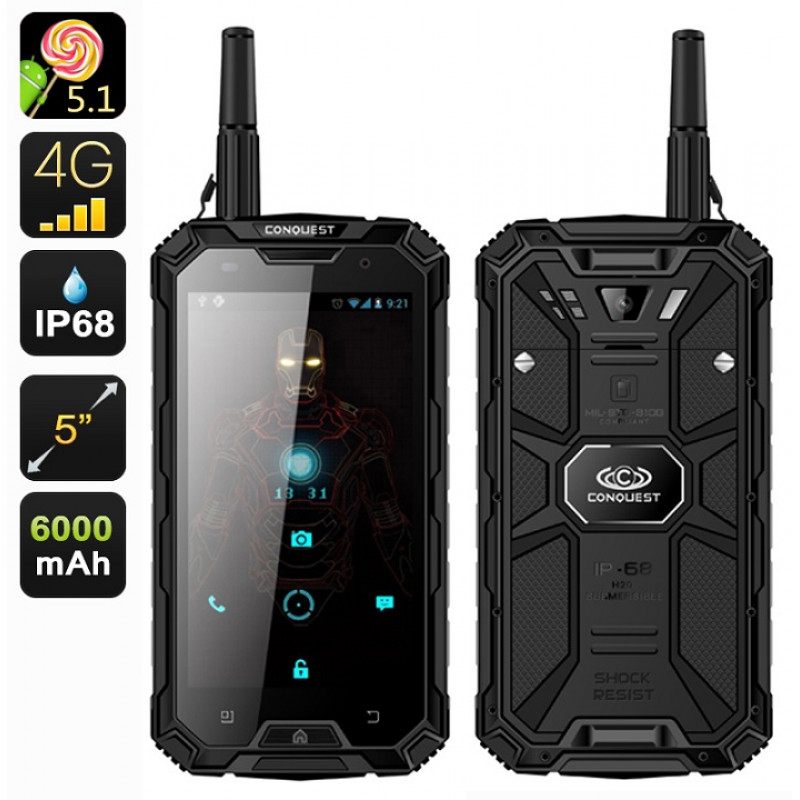 Conquest S8 Pro Military Grade 4G Rugged Smartphone - IP68 Waterproof, Dustproof, Shockproof