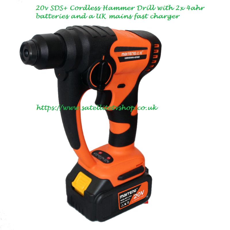 20V Cordless SDS+ Hammer Drill