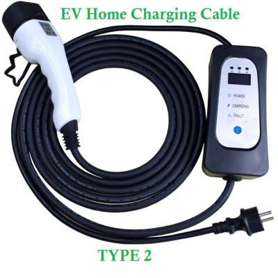 16A 7KW Type 2 EV Charging Cable For Electric Vehicles