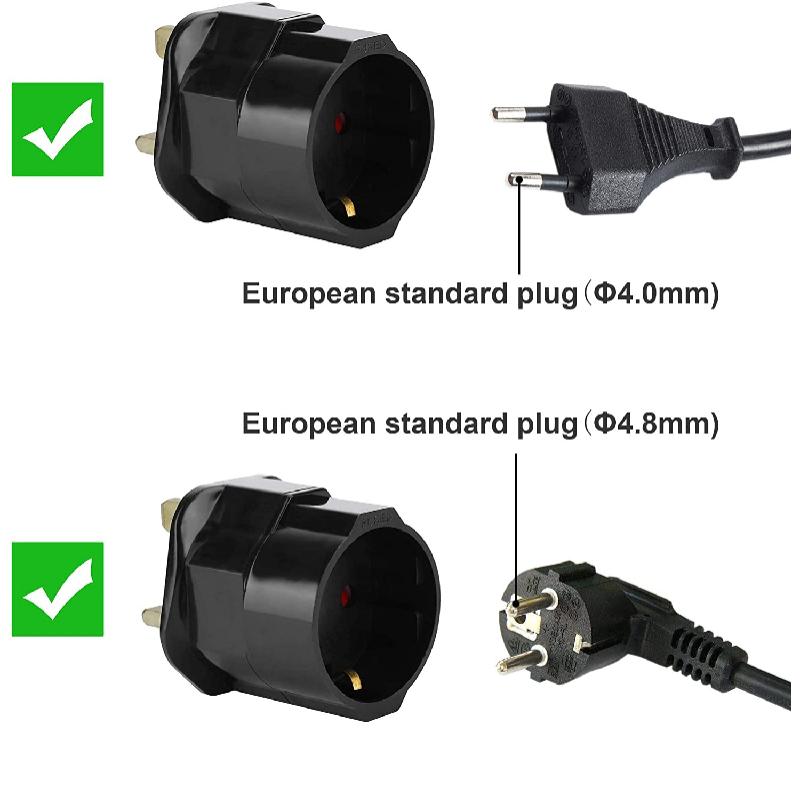 EU - GB Plug Adaptor - SCHUKO - UK Plug Adaptor