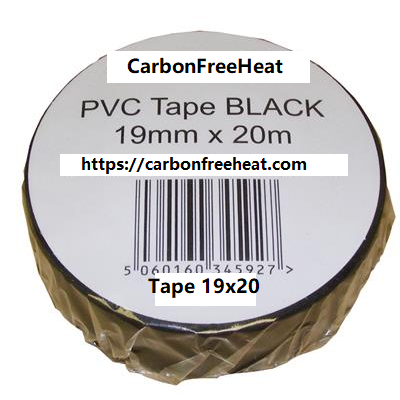 PVC Tape 20m x 19mm- Black