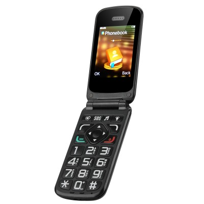 Retro Sim Free, Network Unlocked Flip Mobile Phone - Large Keys, Loud-Speaker