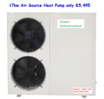 Retro Fit 17kw Air Source Heat Pump 58,000 Btu's
