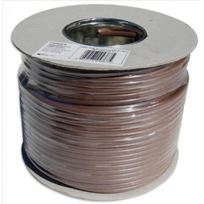 Brown RG6 Satellite Cable 100m