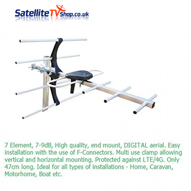 Stinger Mini 7 Element TV Aerial 9dB
