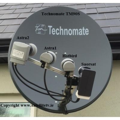 Hotbird, Astra1 and Astra2 Satellite Dish