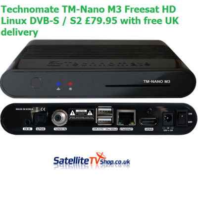 Technomate TM-Nano M3 Freesat HD Satellite Linux DVB-S / S2