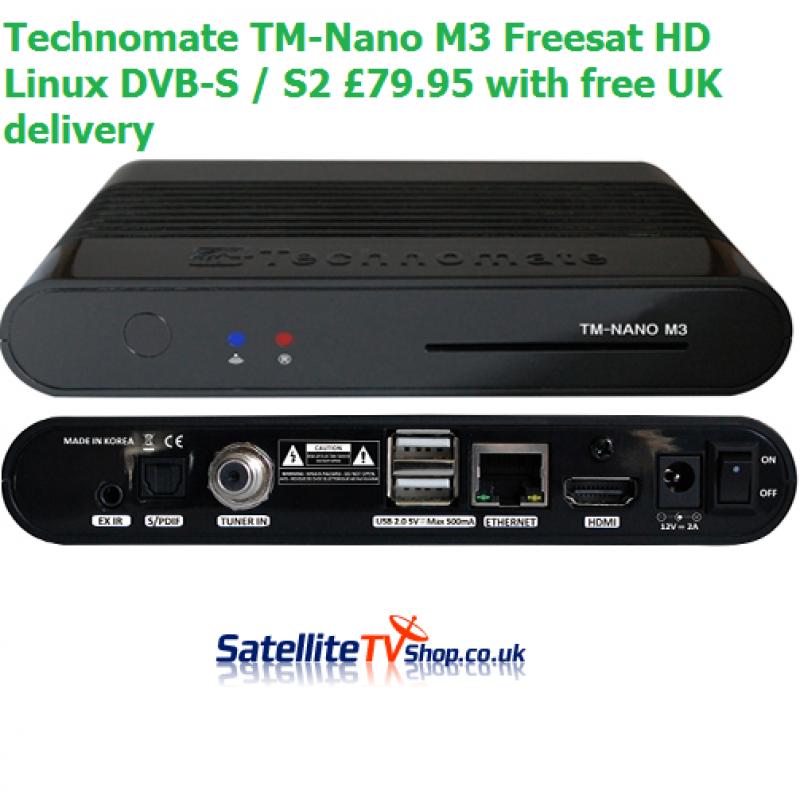 Technomate TM-Nano M3 Freesat HD Satellite Linux DVB-S / S2