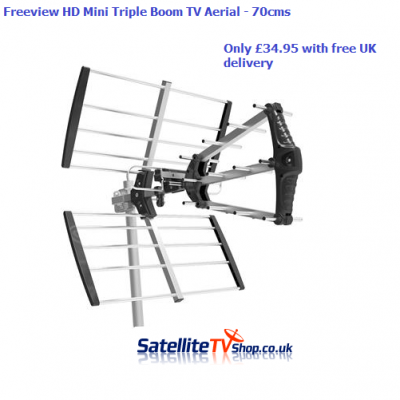 MINI Magician ( Triple Boom) Freeview HD TV Aerial