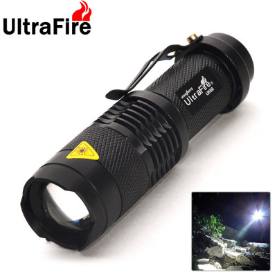 UltraFire 300 Lumens Zoom LED Flashlight - Black