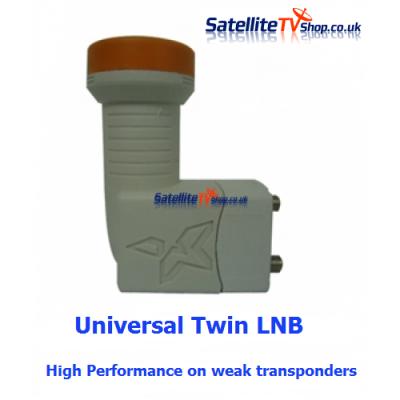 Universal Twin LNB 0.1db 40mm